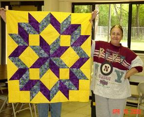 Four hour quilt, easy carpentars star, quiltfrog, quick and easy